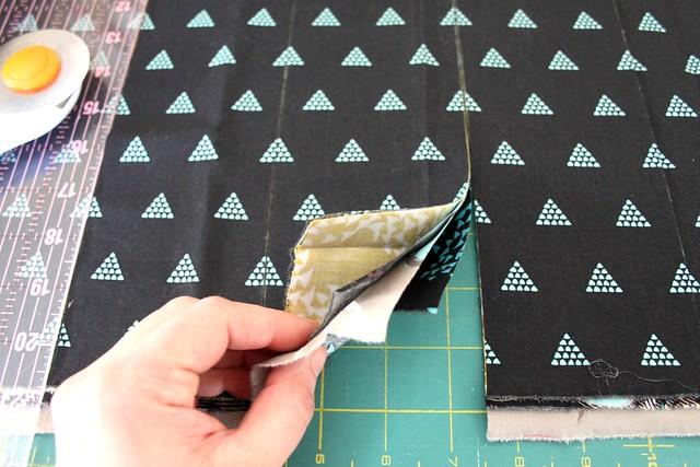 Stack & Whack -- working on my Criss Cross Diamond Quilt Block tutorial!