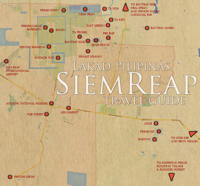 Siem Reap Tourist Spots Map