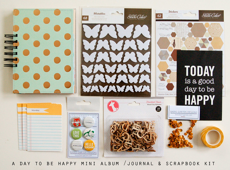 A day to be happy Journal and Scrapbook Kit