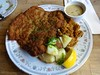 pork schnitzel at Cafe Europa in San Francisco