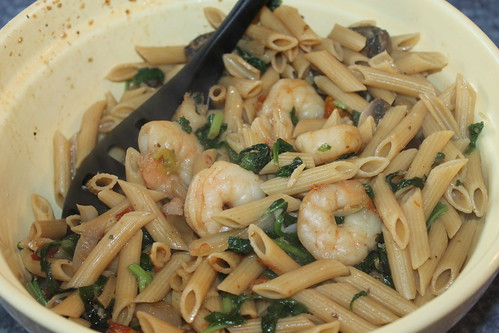 Spinach and Shrimp Pasta