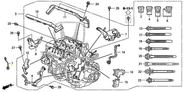 genuine acura mdx rdx rl tl tsx zdx engine knock sensor