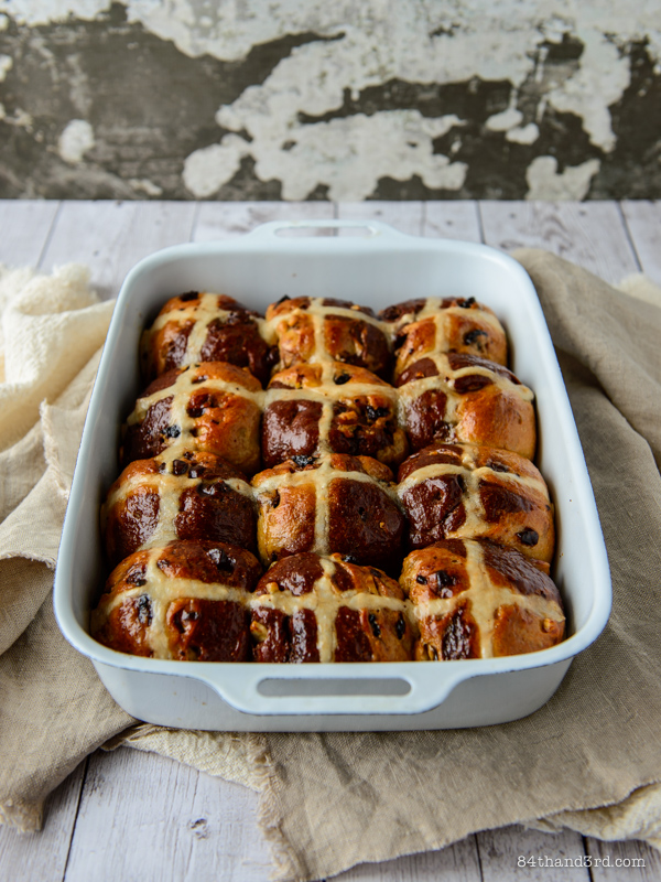Banana Split Hot Cross Buns