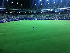 Jose Bautista in right field - Montreal