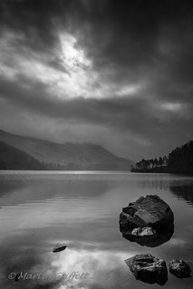 Equinox Supermoon Eclipse over Helvellyn from Thirlmere