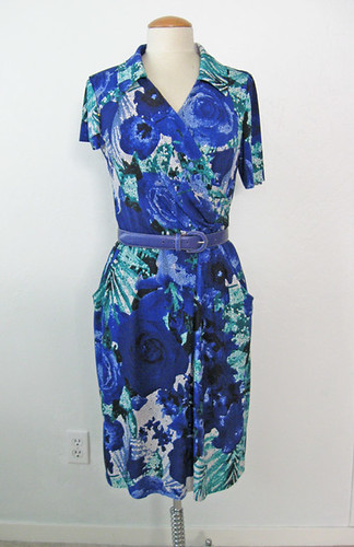 blue ity dress with sleeves