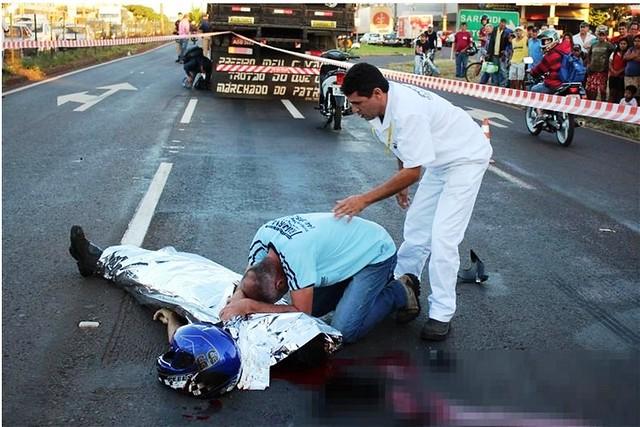 acidente motociclista av colombo