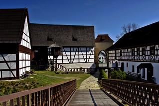 Innenhof der Burg Seeberg Tschechien