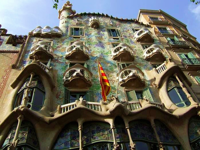 beautiful house in Barcelona created by Gaudi