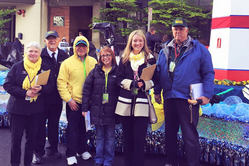 Rep. Melanie Stambaugh at the 2015 Daffodil Festival. Stambaugh had the opportunity to judge floats from across the Pacific Northwest