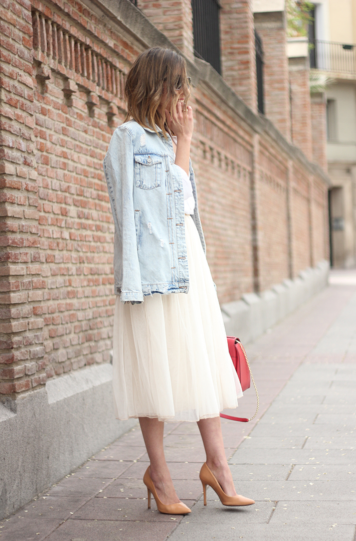 Tulle Skirt Denim Jacket14