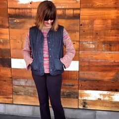 SUPER excited to have finished my #purlbee quilted vest : #memademay here I come! #memademay15
