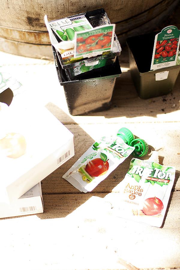 #RaisingGoodApples planting a kids' hamburger garden