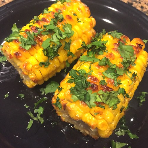 Mexican Grilled Corn with Cilantro