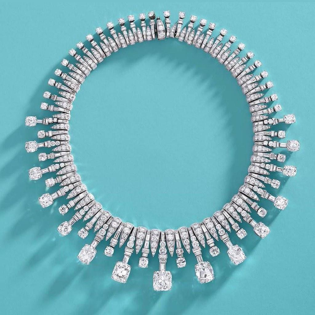 e97b74e228 Next 1 June this art decó white diamond necklace by Bulgar… | Flickr