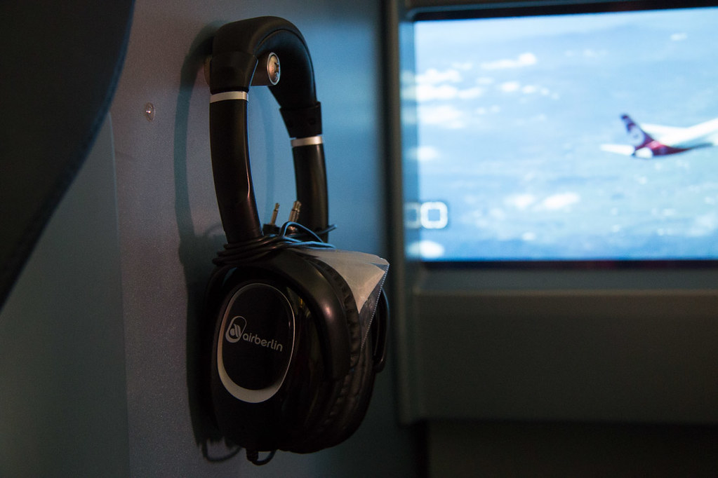 Air Berlin Business Class headphones