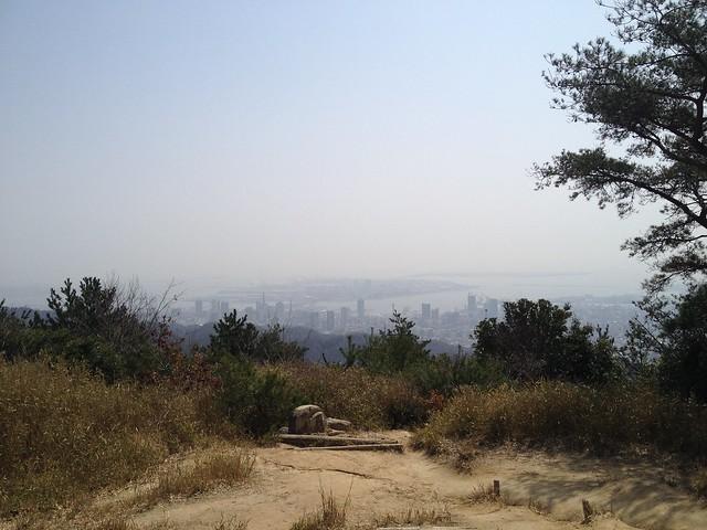 六甲全山縦走路 菊水山頂からの眺望