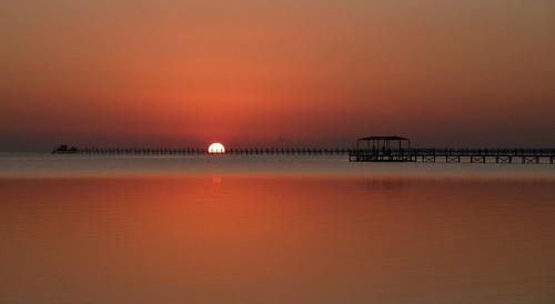 sunrise jetty redsea egypt sonnenaufgang ägypten sinai rotesmeer badesteg nabqbay wernerboehm