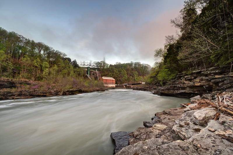 Powerhouse, Caney Fork River, Rock Island State Park, White County, Tennessee 2