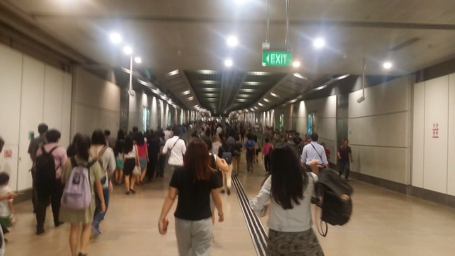 Peak hour human traffic.