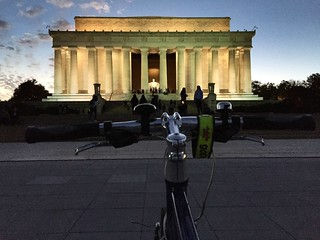 Biking to the Lincoln Memorial
