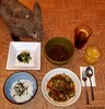 Seara (sea rabbit). Photo by Dr. Takeshi Yamada. 20120224 014 Sweet Chicken and Vegetables Stew. Steamed Rice w Nori. Chicken Soup. Pickled Bok Choy. Orange Juice. Lemon Tea