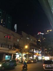 Nighttime street, Saigon
