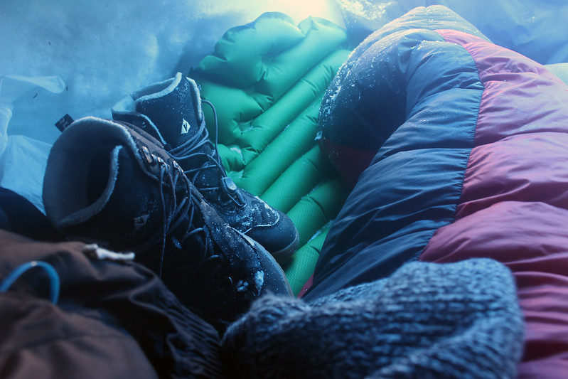 frozen boots