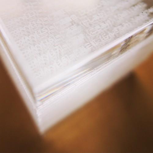 5センチ角のキューブ。 #cubejourney