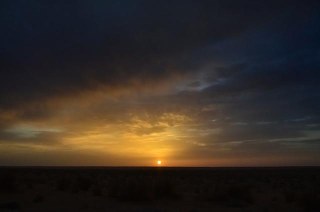 Puesta de sol en Douz