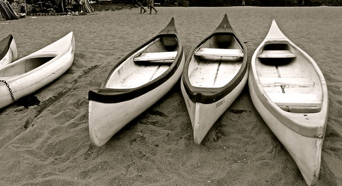 Beached canoes, Ramsgate
