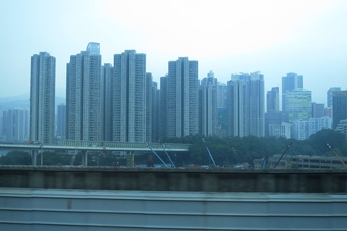 Window view from Airport Express
