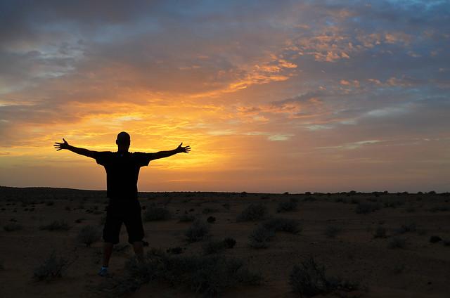 Atardecer en el desierto de Douz