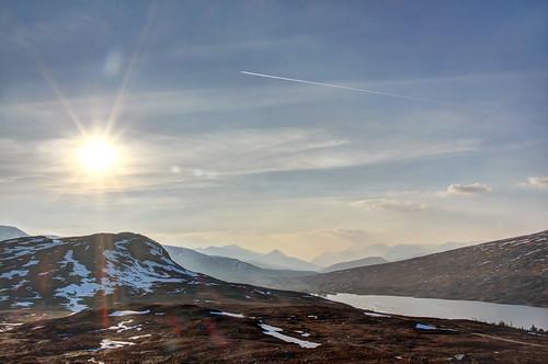 mountain landscape scotland wintersunset munro