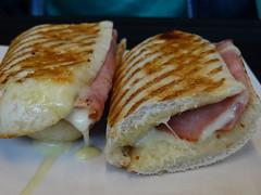 ciabatta(0.0), breakfast sandwich(0.0), sandwich(1.0), meal(1.0), breakfast(1.0), ham and cheese sandwich(1.0), meat(1.0), food(1.0), dish(1.0), cuisine(1.0),