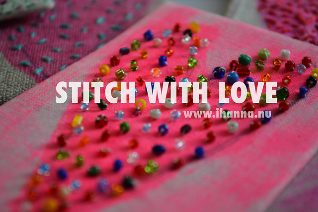 STITCH with LOVE bead embroidery for the STITCHED Blog Hop 2015, image by iHanna