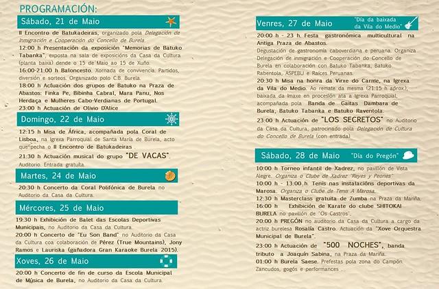 Burela 2016 - Festas Patronais - programa