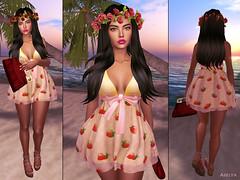 Zarina in strawberries
