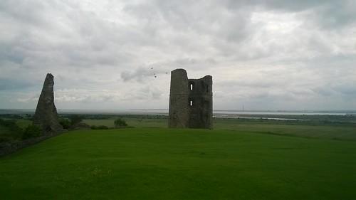 Hadleigh Castle with birds