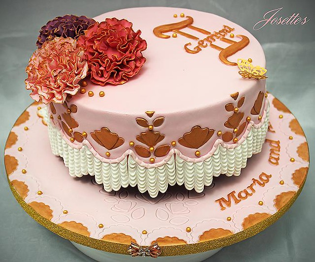 Birthday Cake for two Lovely Ladies by Josette Magri‎