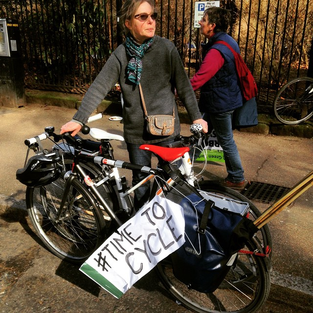 #Cyclist are starting to gather. #cycle #b#TimeToCycle #TimeToAct2015 #urban
