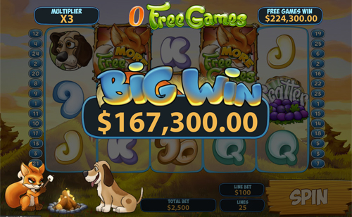 free Foxy Fortunes free spins win