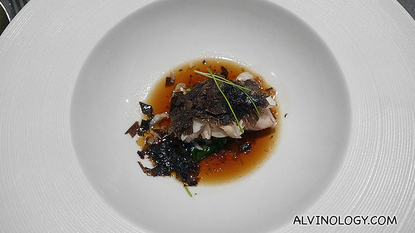 Slow-Cooked Amadai with Black Truffle