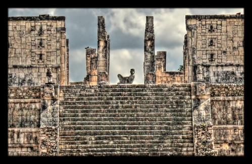Chichén Itzá MEX - Templo de los Guerreros  el Chac Mool 02