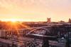 Rainbow Bridge + view of Niagara Falls, NY
