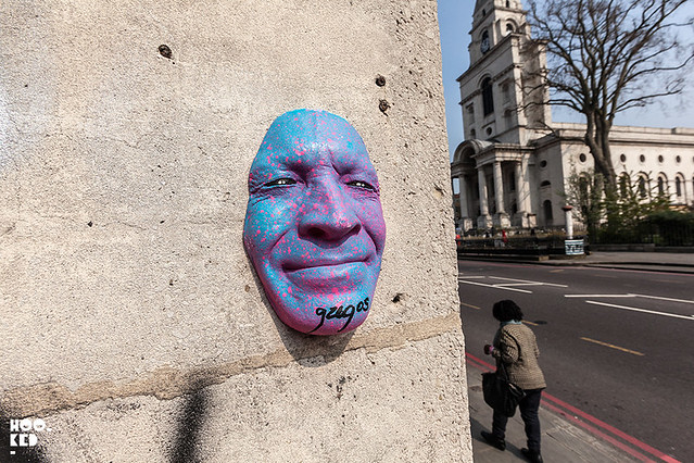 French street artist Gregos in London