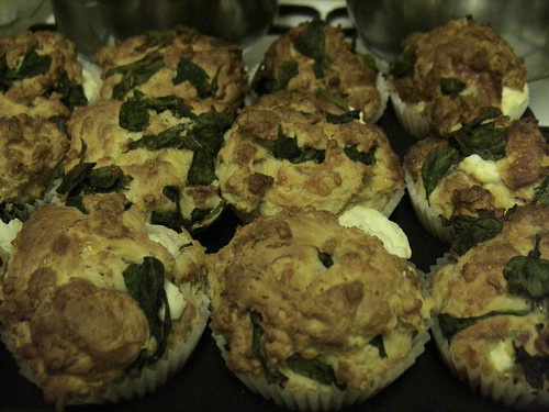 Spinach and 3 Cheese Muffins