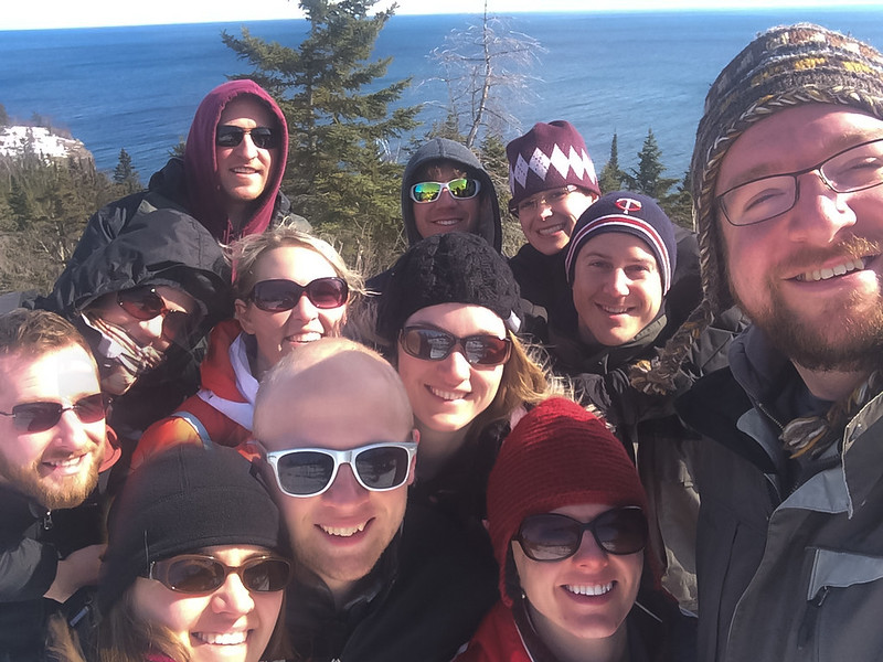 Whole Group Selfie at Lutsen