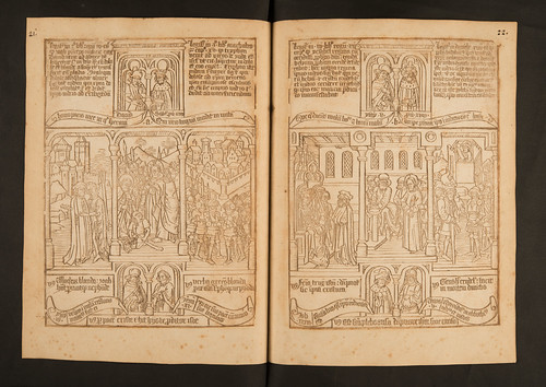 Woodcut opening from Biblia pauperum