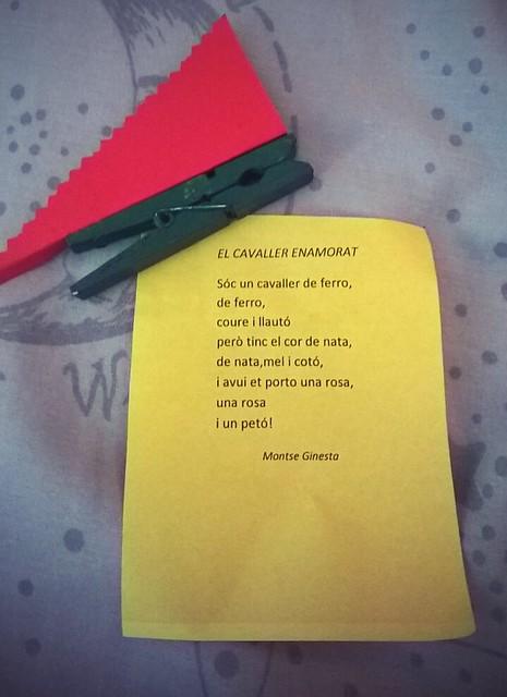 "poesia ""el cavaller enamorat"" - drac de sant jordi"